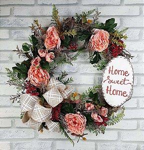 Guirlanda de Flores - Home Sweet Home/Rosa
