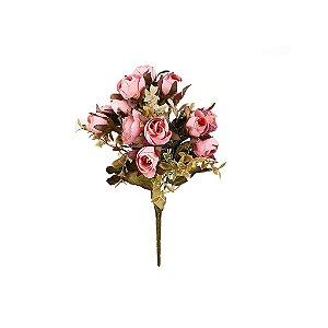 Buquê de Camélia - Rosa Envelhecido