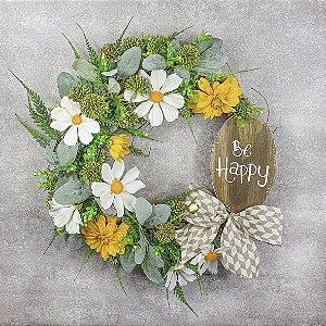 Guirlanda de Flores - Be Happy