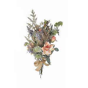 Buquê de Flores - Lavanda/Salmão