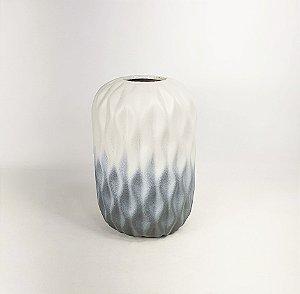 Vaso de Cerâmica - Bege/Cinza