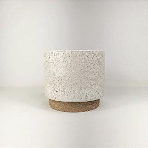 Vaso de Cerâmica - Branco/Pequeno