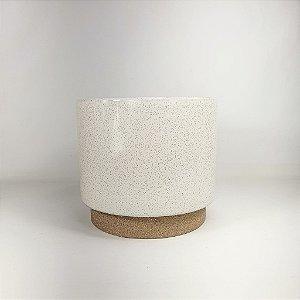 Vaso de Cerâmica - Branco/Grande