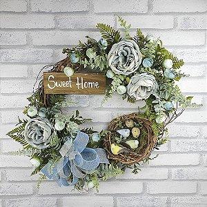 Guirlanda de Flores - Azul/ Sweet Home