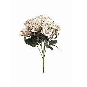 Buquê de Rosa Cabbage - Palha