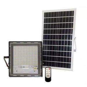 REFLETOR LED SOLAR 300W COM CONTROLE REMOTO