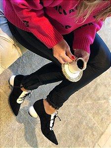 Sapato Oxford Salto Redondo