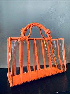 Shop Bag Com Transparência Laranja