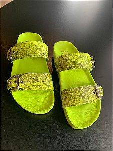 Slide em Python Neon Verde