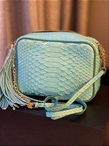 Bolsa Alice em Python Azul claro