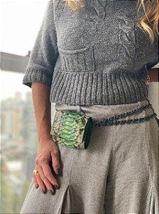 Mini Bag Daniela em Python Artesanal