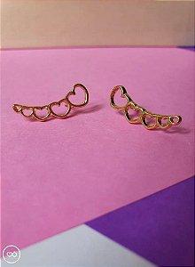 Brinco banhado a ouro ear cuff