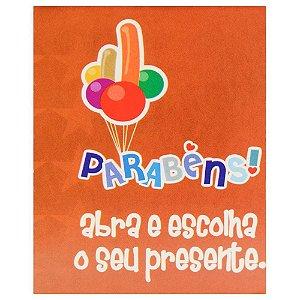 Cartão De Presente Parabéns! Abra...