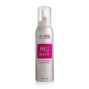 Mousse Corporal Efervescente Sensual My Secret - 100g/150ml