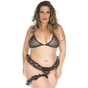 Kit Mini Fantasia Plus Size Conjunto Sexy