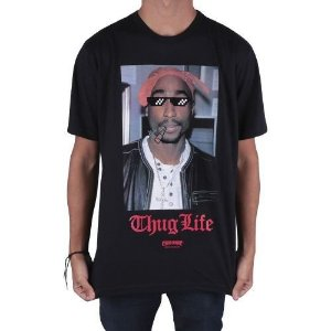 Camiseta Chronic Tupac Thug Life Preta