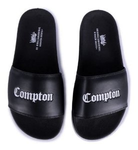 Chinelo Slide Chronic Compton Preto