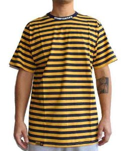 Camiseta Other Culture Striped Yellow