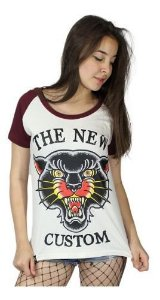Camiseta Raglan Feminina The New Custom Panther