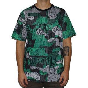 Camiseta Chronic Compton Camuflada Verde