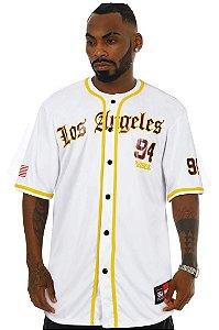 Camisa de Baseball Prison Los Angeles 94 Branca