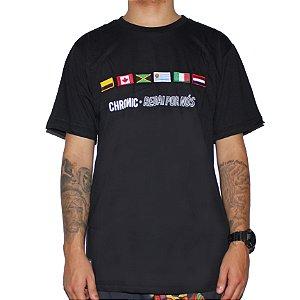 Camiseta Chronic Regai Por Nos Preta