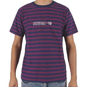 Camiseta Chronic Listrada Wrap Fresa