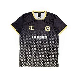 Camiseta Hocks Football Jersey Preta Amarela