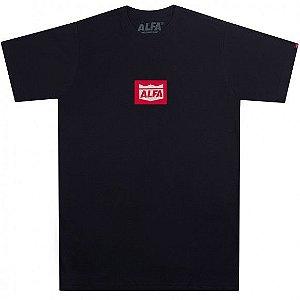 Camiseta Alfa Big Brasao Spot Preta