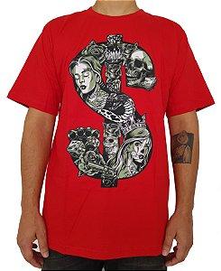 Camiseta Chronic Vermelha Cifrão