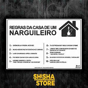 REGRAS DA CASA DE UM NARGUILEIRO