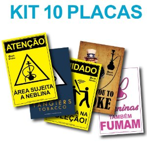 KIT COM 10 PLACAS DECORATIVAS