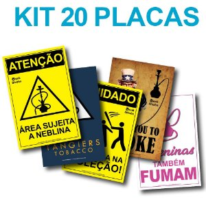 KIT COM 20 PLACAS DECORATIVAS