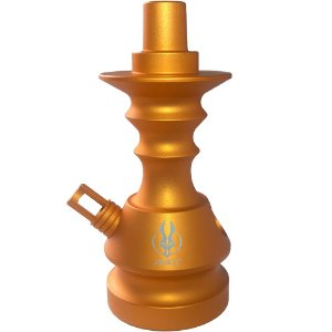 STEM PEQUENA LITTLE MONSTER VELVET DOURADA -  ANUBIS HOOKAH