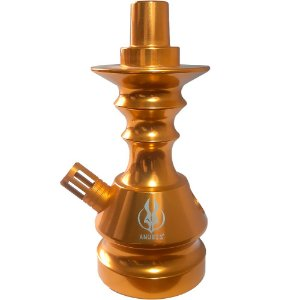 STEM PEQUENA LITTLE MONSTER DOURADA -  ANUBIS HOOKAH