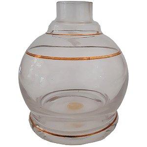 VASO PEQUENO JUMBINHO OURO INCOLOR - SHISHA GLASS