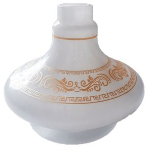 VASO ALADIN PEQUENO GREGA BRANCO - SHISHA GLASS