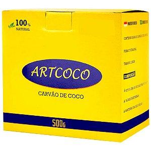 CARVÃO DE NARGUILE GROSSO 500G - ART COCO