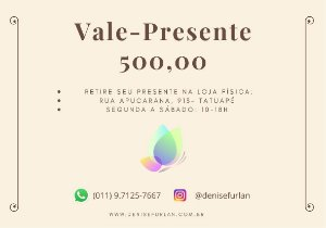 Vale-presente DF R$ 500,00