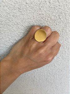 Anel Círculo Fosco Dourado