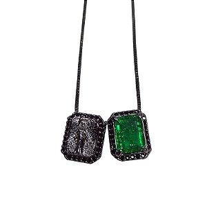 Colar Escapulário Verde Negro
