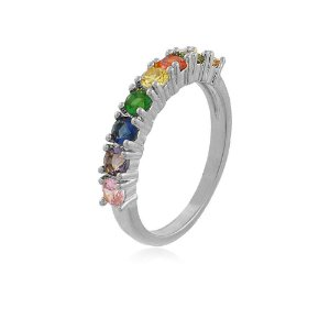 Anel Nati Rainbow Branco
