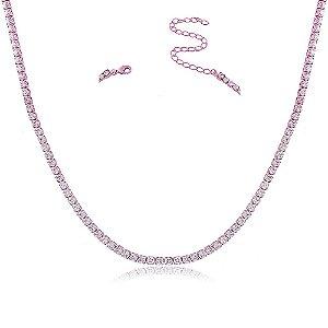 Colar Rita 40cm Pink