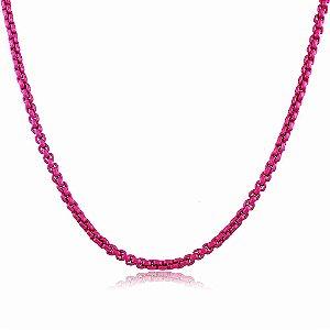Colar Veneziana Nati Metalizado Pink