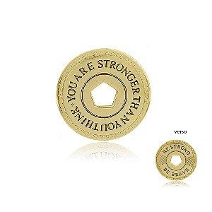 Pingente Be Strong Dourado