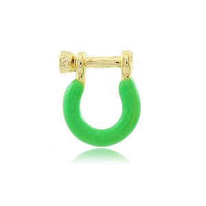 Pingente Ferradura Verde Neon