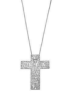 Colar Crucifixo Pai Nosso Branco