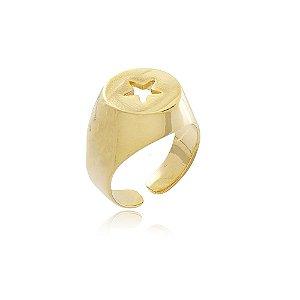 Anel Dedinho Stela Dourado