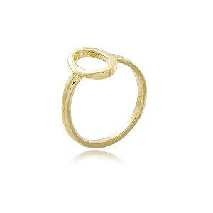 Anel Falange Oval Dourado