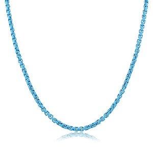 Colar Veneziana Nathy Azul Céu